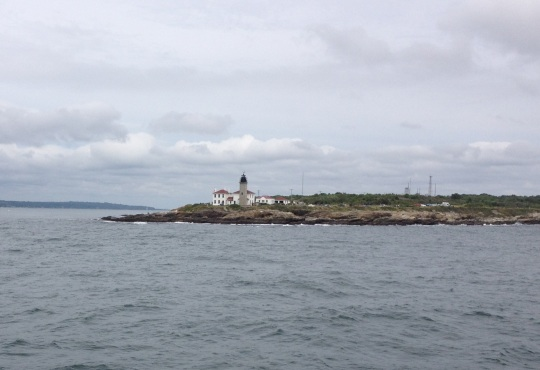Fishing Off The Rocks at Beavertail Light
